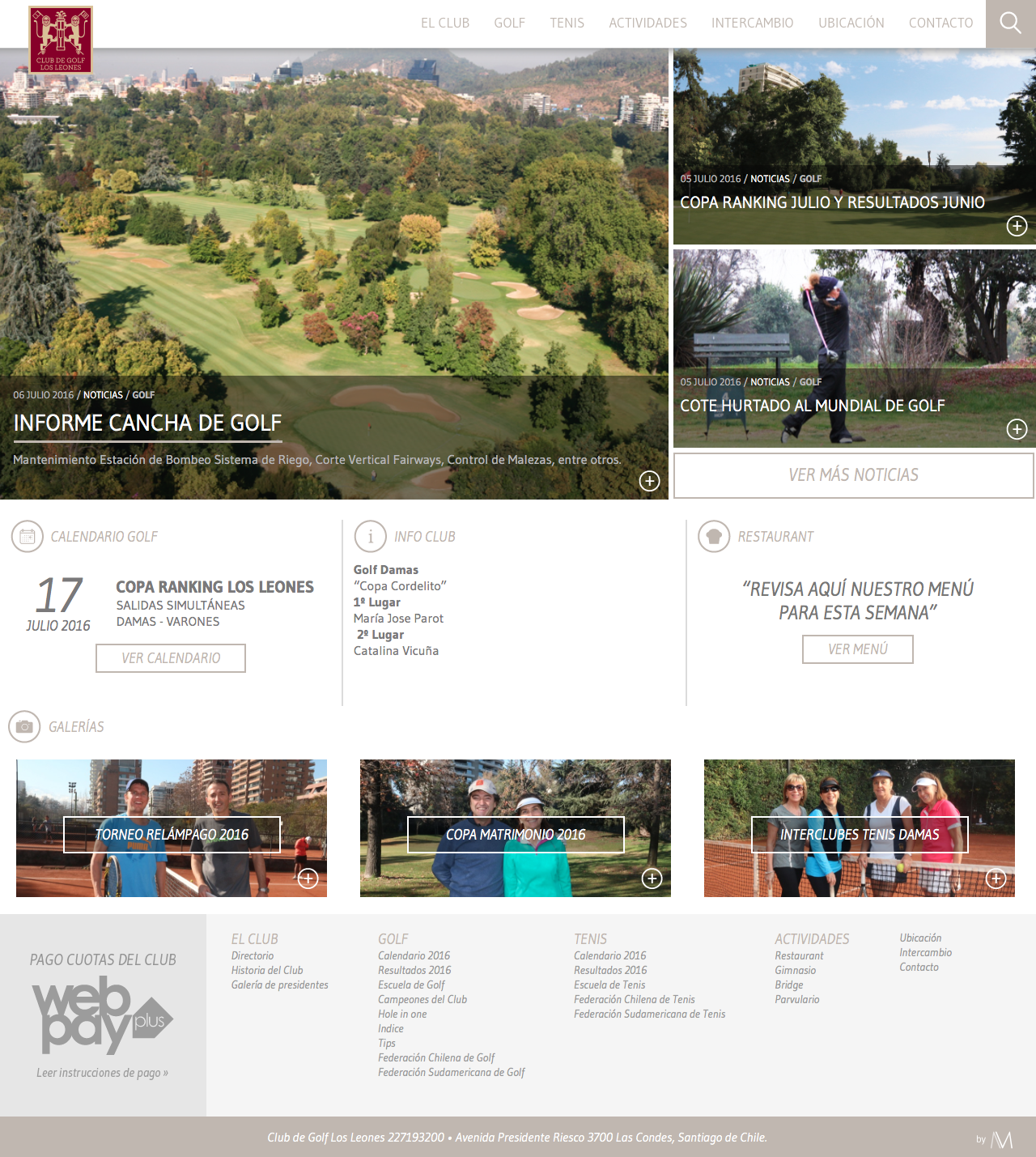 club de golf los leones sitio web